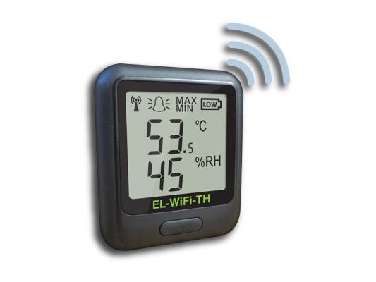 Bevielio ryšio temperatūros ir drėgmės duomenų kaupiklis EL-WiFi-TH