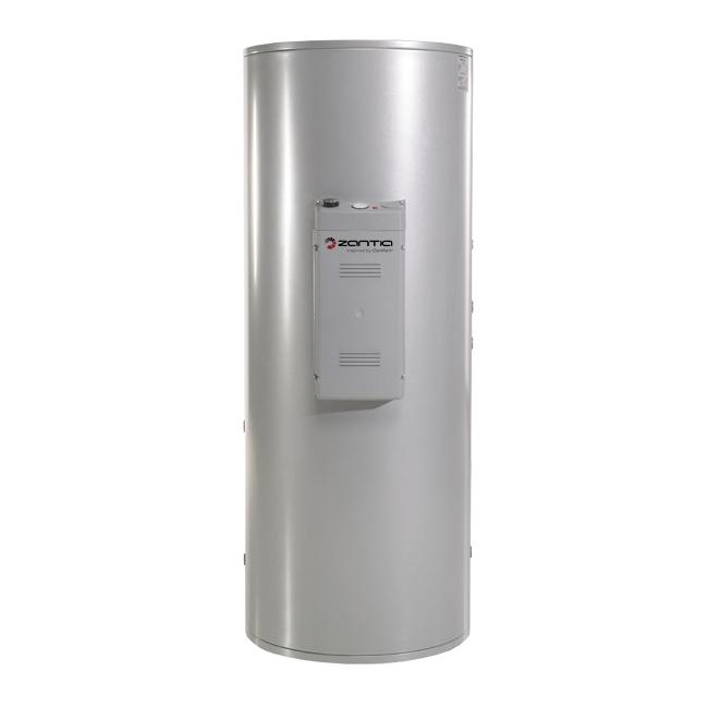 Vandens šildytuvas su 2 šilumokaičiais, 200 L talpa