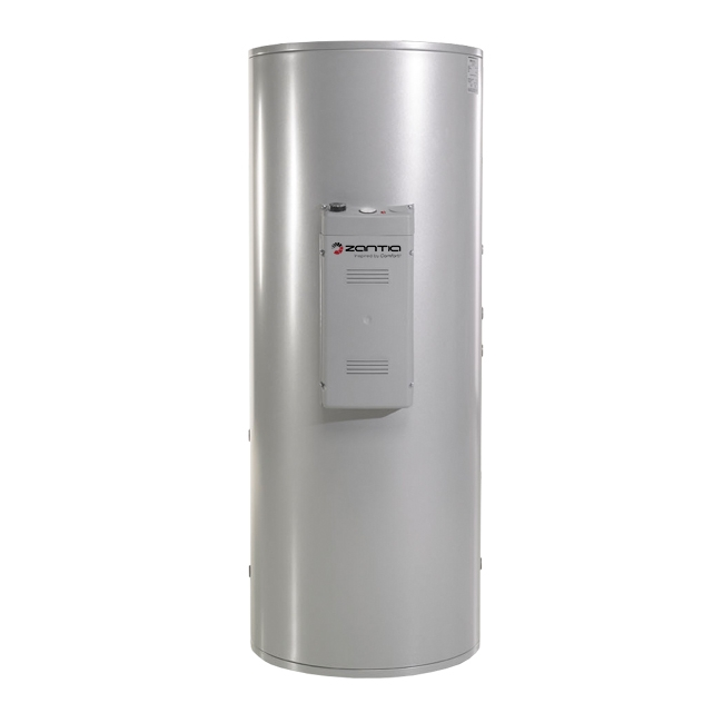 Vandens šildytuvas su 2 šilumokaičiais, 400 L talpa