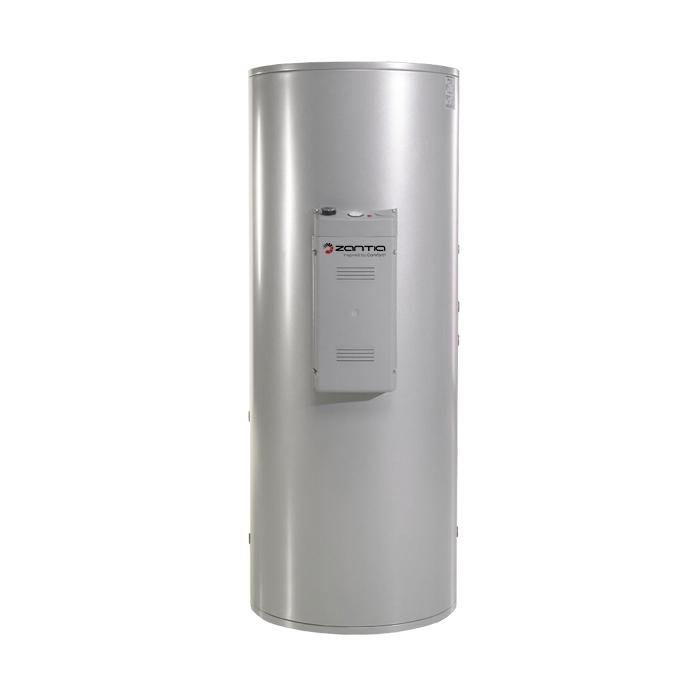 Vandens šildytuvas su 2 lygiagrečiais šilumokaičiais, 200 L talpa