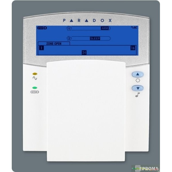 32 zonų ikoninė LCD klaviatūra centralei PARADOX K35