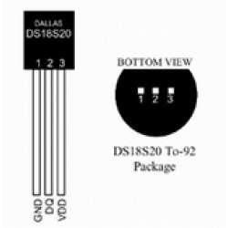 Dallas temperatūros jutiklis DS18S20