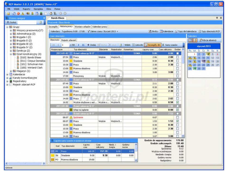 Programinė įranga laiko ir lankomumo apskaitai Roger RCP Master 2-1