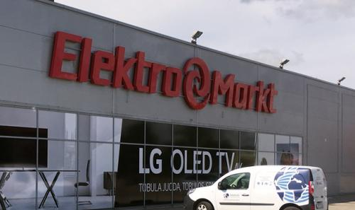 Prekių saugos sistemų įrengimas ELEKTROMARKT parduotuvėje