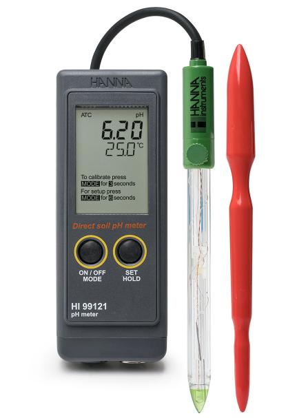 Nešiojamas dirvožemio pH matuoklis HI99121