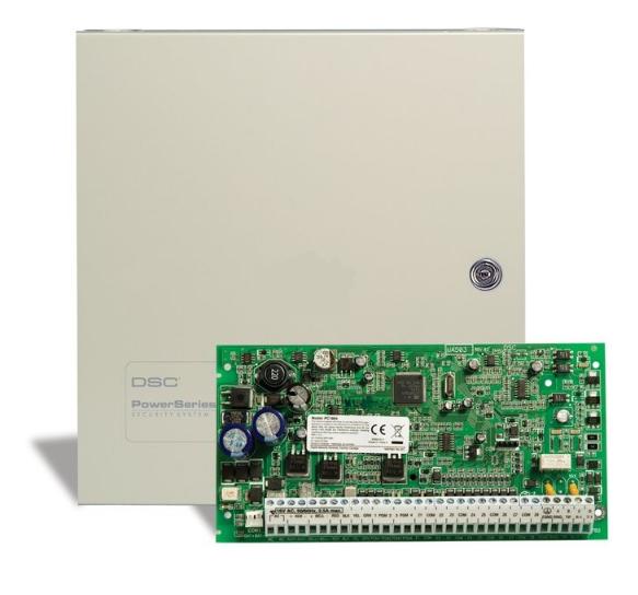 8-64 zonų centralė su dėže DSC PC1864NKE