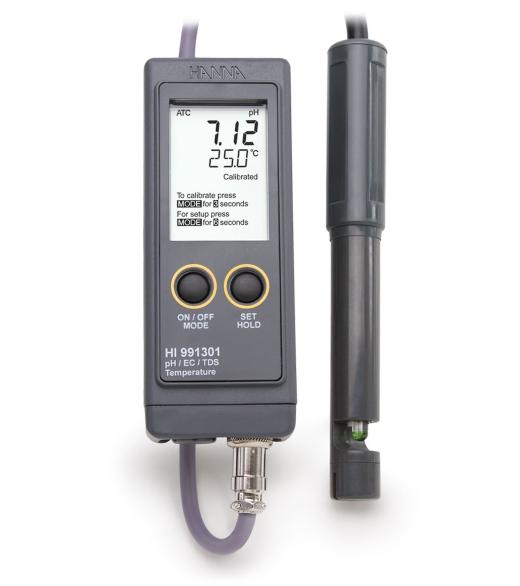 pH, EC/TDS ir temperatūros matuoklis HI991300