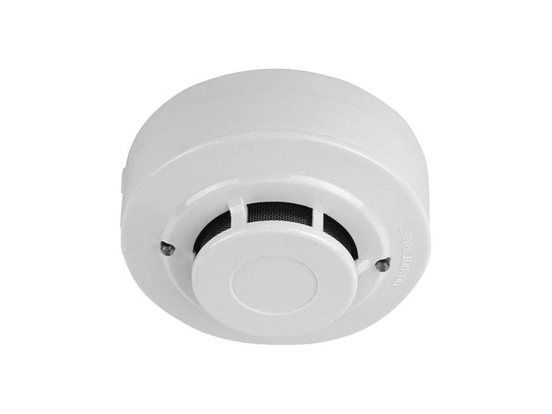 Dūmų jutiklis SD119-2  Optinis dūminis gaisrinis jutiklis jungiamas 2 laidais. Maitinimas 12-24VDC. Maksimali leidžiama srovė 80mA, aliarmo būsenoje 35mA. Detektavimo aprėptis: 100 kvadratinių metrų dūmų detekcijai. Matmenys: diametras 100 mm x 50 mm (su baze). Dūmų jutiklio svoris: 130 g (su baze).
