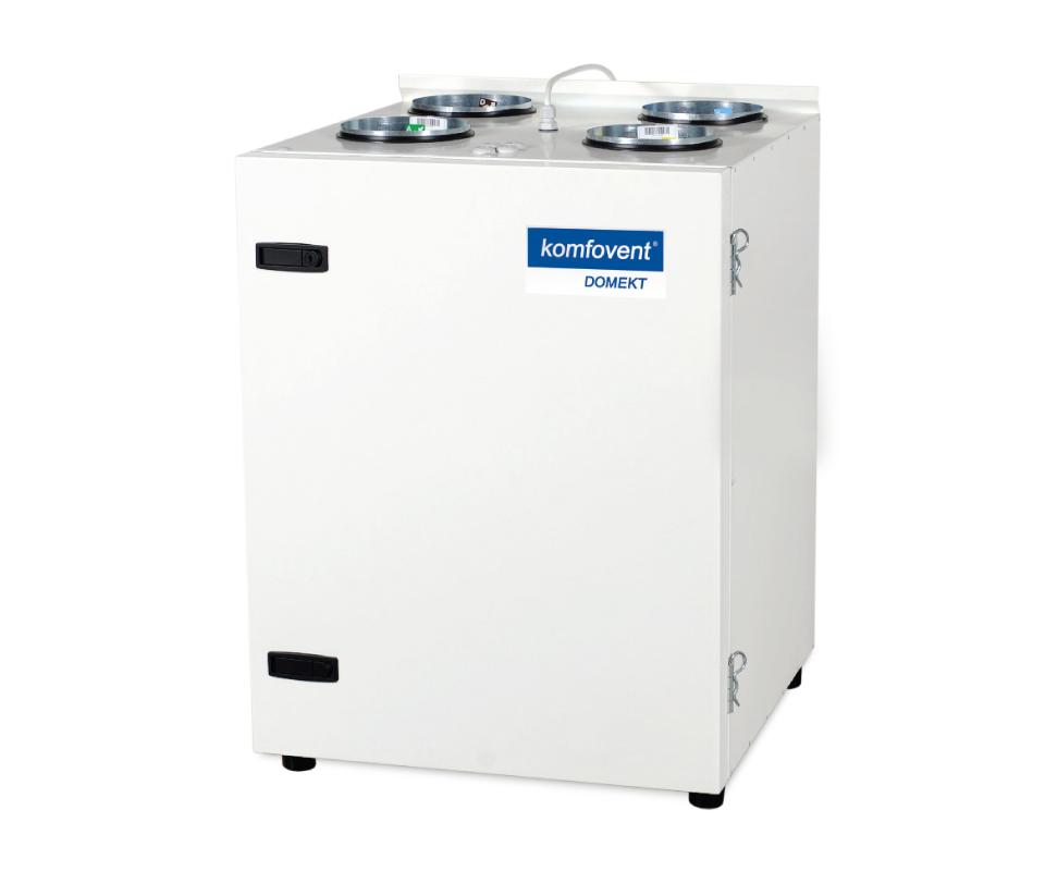 Rekuperatorius su priešsroviniu plokšteliniu šilumogrąžiu Komfovent Domekt CF 400 V