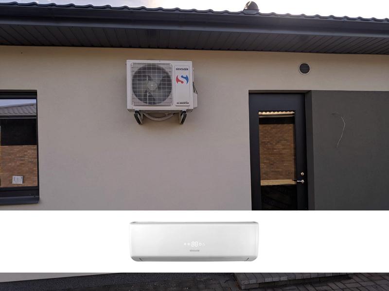 Individualiame name sumontavome Sinclair Vision serijos oro kondicionierių   Sumontuotas 4,6 kW vėsinimo / 5,2 kW šildymo galios, A++/A+ energijos efektyvumo klasės sieninis oro kondicionierius su LED ekranu ir Wifi funkcija.