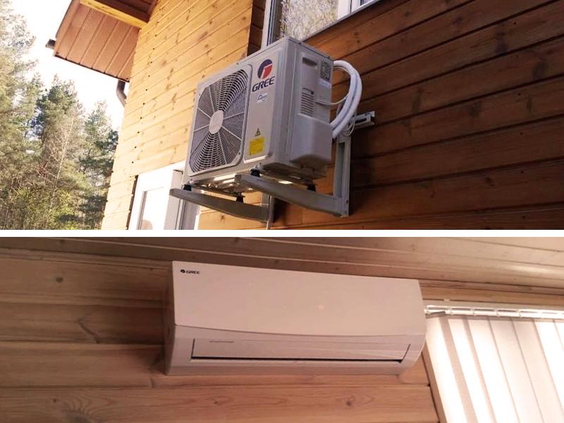 Oro kondicionieriaus įrengimas vasarnamyje   Sumontavome kliento įsigytą GREE gamintojo oro kondicionierių. Nors šio gamintojo įrenginiais patys neprekiaujame, tačiau galime sumontuoti bet kurio gamintojo įrangą.