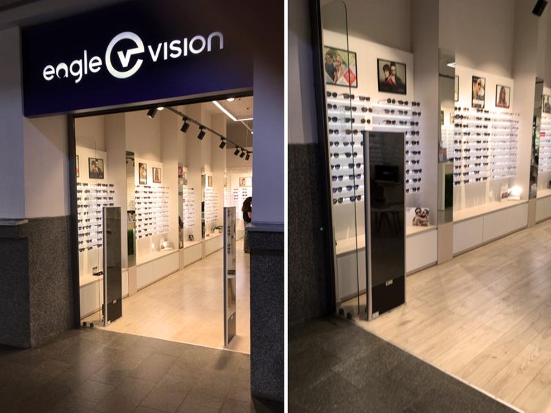 """Įrengėme prekių apsaugos vartelius optikos salone """"EAGLE VISION""""."""
