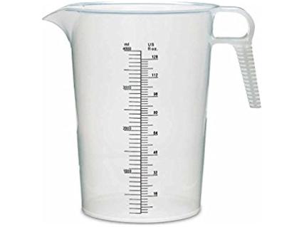 Plastikinis graduotas 3000 ml matavimo indas
