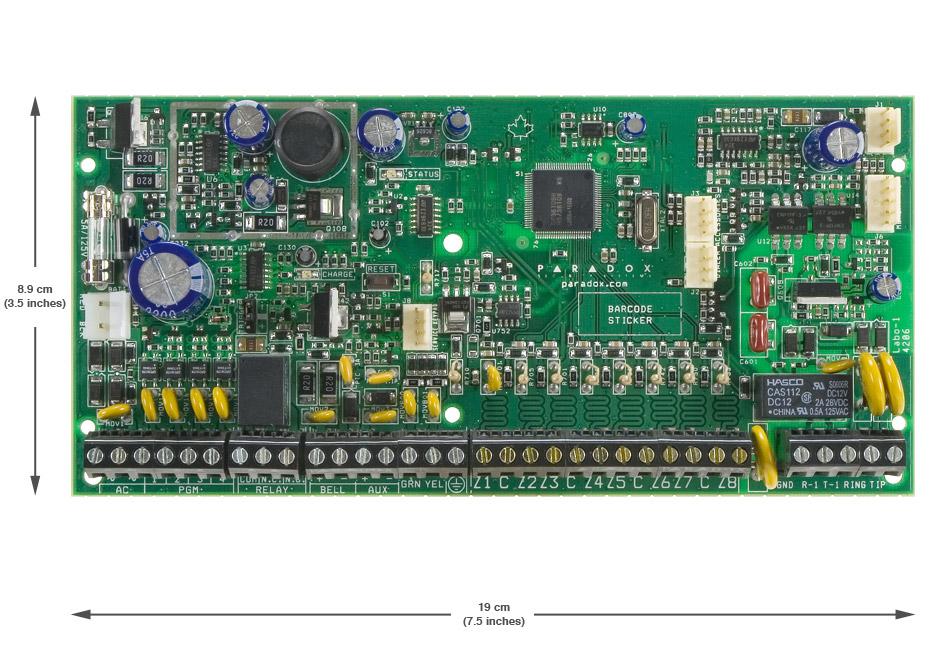 8 zonų apsaugos centralė PARADOX SPECTRA SP6000