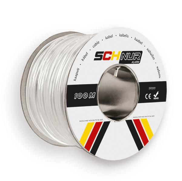 4 gyslų apsauginis kabelis 100m SCHNUR