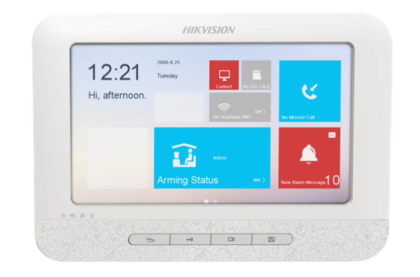 IP video telefonspynės monitorius Hikvision DS-KH6310-W(L)