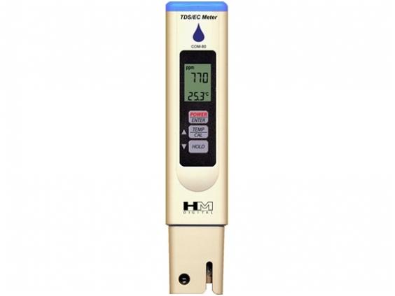 Ištirpusių kietųjų medžiagų / elektros laidumo matuoklis COM-80