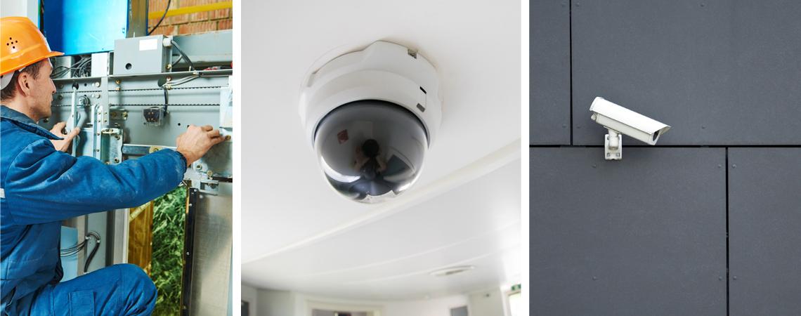 elektros instaliacijos, apsaugos sistemų įrengimas