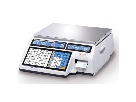 Prekybinės elektroninės svarstyklės CAS CL5000J su metrologine patikra