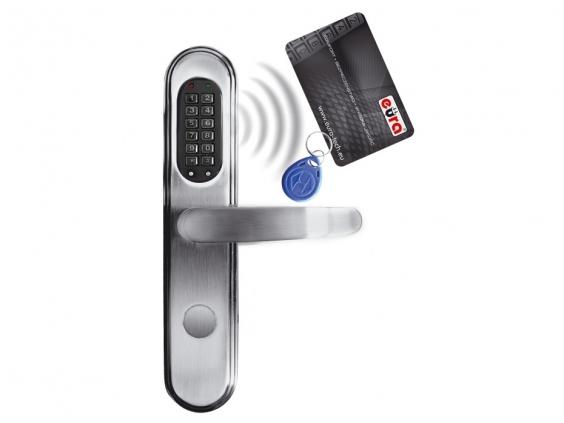 Elektromechaninė durų spyna su RF ID skaitytuvu ir kodo užraktu ELH-40B9/silver (valdymo dalis)
