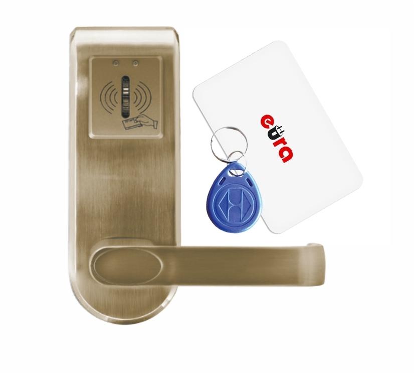 Elektroninė durų spyna su RFID kortelių skaitytuvu ELH-62B9 / ruda (valdymo dalis)