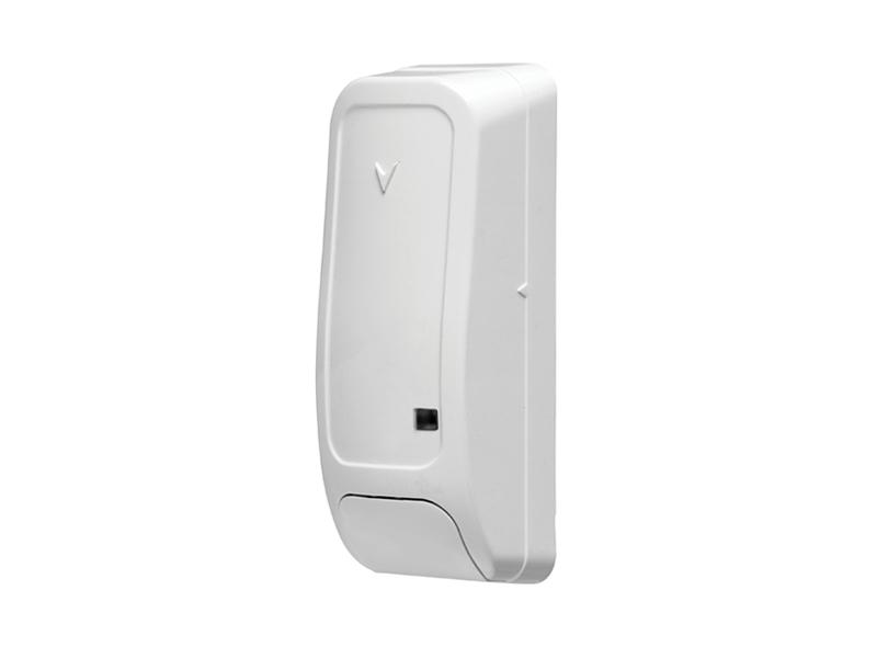 Belaidis durų/langų kontaktas DSC PG8945  Kompaktiškų matmenų (81 x 32 x 25mm) bevielis durų/langų kontaktas.  Pasirenkamas zonos iėjimo tipas: NO, NC arba EOL. Matomas ryšio kokybės indikatorius.  Veikimo dažnis: 898 MHz.