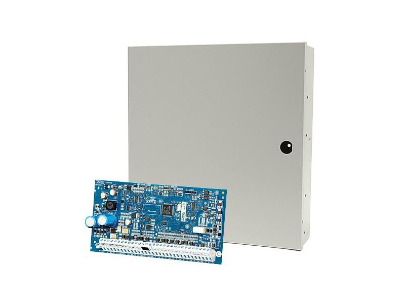 Centralė belaidei signalizacijai su dėže DSC Neo HS2032NKE  PowerSeries Neo 8-32 zonų apsaugos centralė palaiko iki 8 klaviatūrų. 8 zonos plokštėje, kurios gali būti plečiamos iki 32 bevielių ir laidinių zonų. 2 PGM išėjimai: plečiami iki 22 (HSM2204, HSM2208).  Šabloninis programavimas. Iki 8 pultelių pajungimas su pultelinėmis zonomis. 4 particijos. 500 įvykių atmintis. 72 vartotojų kodai.