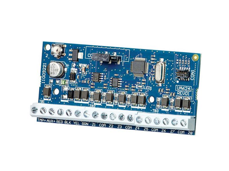 Zonų išplėtimo modulis DSC NEO HSM2108   Zonų išplėtimas iki: 8  Maitinimo įtampa: 12 V DC  Vartojama srovė: 35 mA