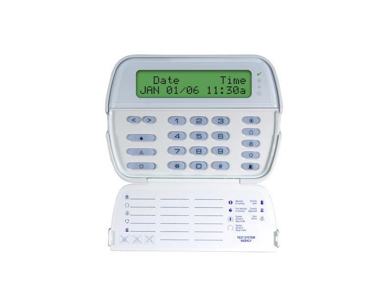 Belaidė klaviatūra DSC RFK5500  Modernaus dizaino klaviatūra su 32 simbolių LCD ekranu. Palaiko 32 belaidžius jutiklius, 16 nešiojamų siųstuvų. 5 programuojami funkciniai klavišai. Daugiakalbis vartotojo ir programavimo meniu.  Budėjimo režimo metu rodoma informacija apie įvykius, esančius sistemos atmintyje. 3 aliarmo paskelbimo klavišai. 4 LED indikatoriai apsaugos ir maitinimo būsenai, gedimams atvaizduoti. Dvigubas antisabotažo mygtukas.  Pajungimas prie KEYBUS magistralės iki 300 m atstumu nuo centralės. Radio signalo perdavimas 433 MHz dažniu.