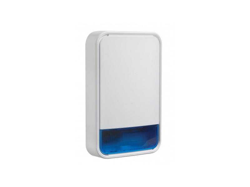 Belaidė sirena DSC NEO PG8911B  Belaidė PowerG lauko sirena. Itin garsus perspėjimo signalas (110 db). Skirtingi aliarmo garsai įsibrovimui, gaisrui, dujoms ir užliejimui. Šviesos funkcija vizualiai indikacijai.  Modernus dizainas ir tvirtas, atsparus korpusas (IP55). Pailgintas akumuliatoriaus veikimo laikas.  Matmenys: 295 x 186 x 63 mm.