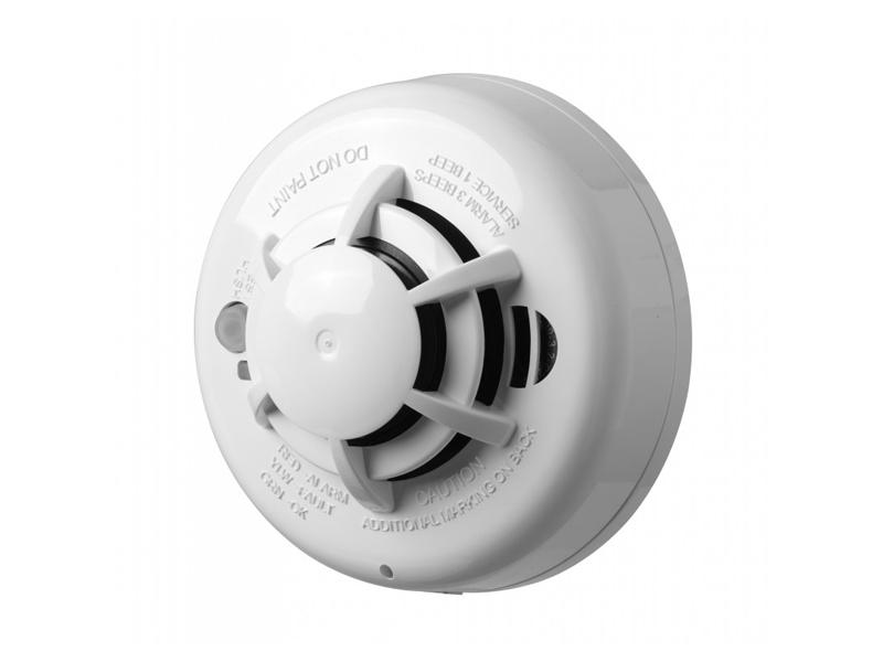 DSC belaidis dūmų jutiklis WS4936EU  Integruota 85 dB sirena. Veikimo dažnis 433 MHz. Baterijos: 3 AAA. Veikimo temperatūra: 0 - +38 °C.