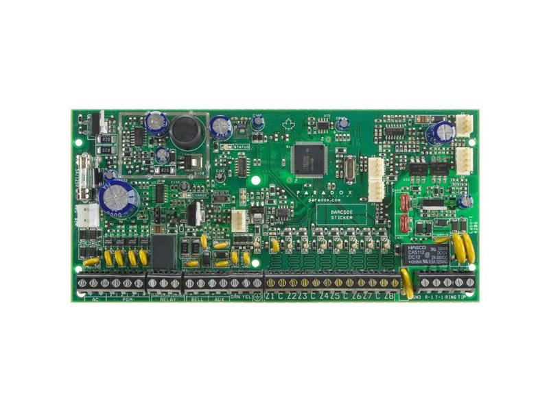Apsaugos centralė PARADOX SPECTRA SP6000  8 bazinės zonos (16 su ATZ funkcija). 2 bazinės programuojamos zonos. Palaiko Stay D režimą. Keturių laidų duomenų perdavimo jungtis. Plečiama iki 32 zonų. Plečiama iki 16 programuojamų zonų. 2 particijos. 32 vartotojų kodai. Palaiko IP100 internetinį modulį. Palaiko VDMP3 Plug-in garso modulį. Programinės įrangos atnaujinimo galimybė. 256 įvykių buferis.
