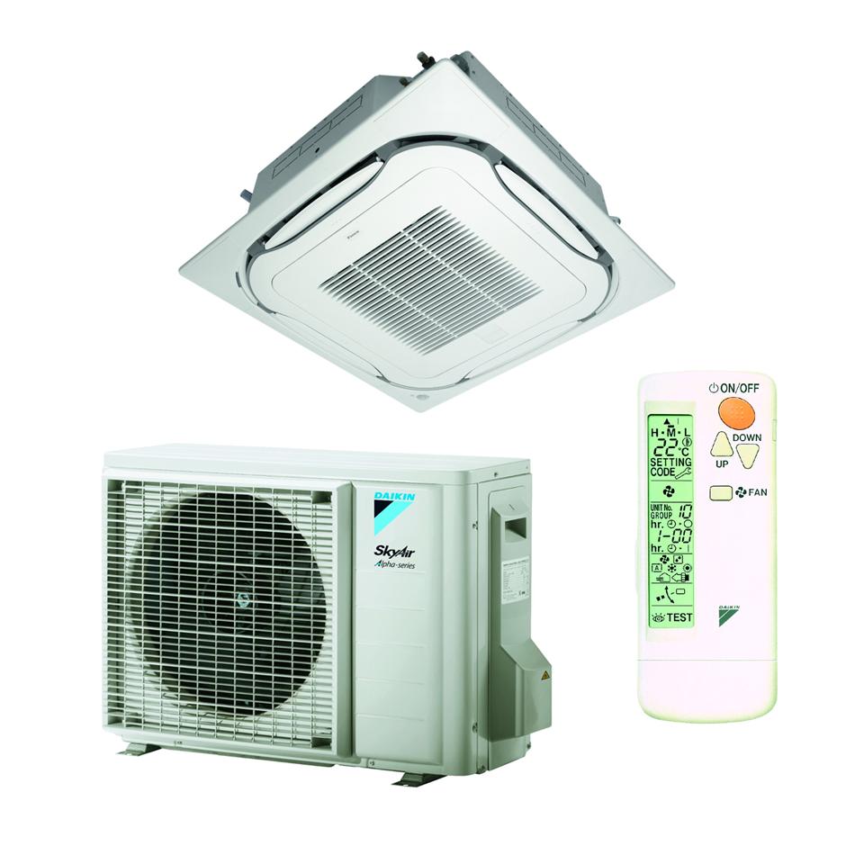 Split Inverter kasetinis oro kondicionierius Daikin ROUND-FLOW FCAG-A/RZAG-A