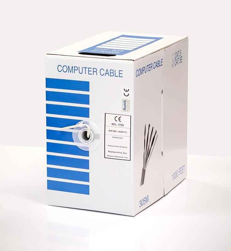 Vidaus UTP kabelis LTECH CAT5e (305 m ritė)