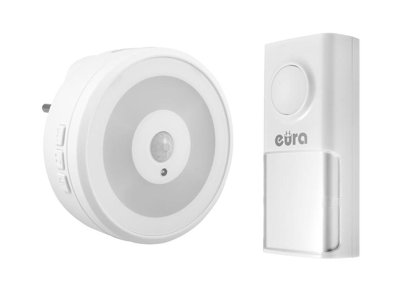 Bevielis durų skambutis su judesio detekcijos LED apšvietimu EURA WDP-90H2 DISCO