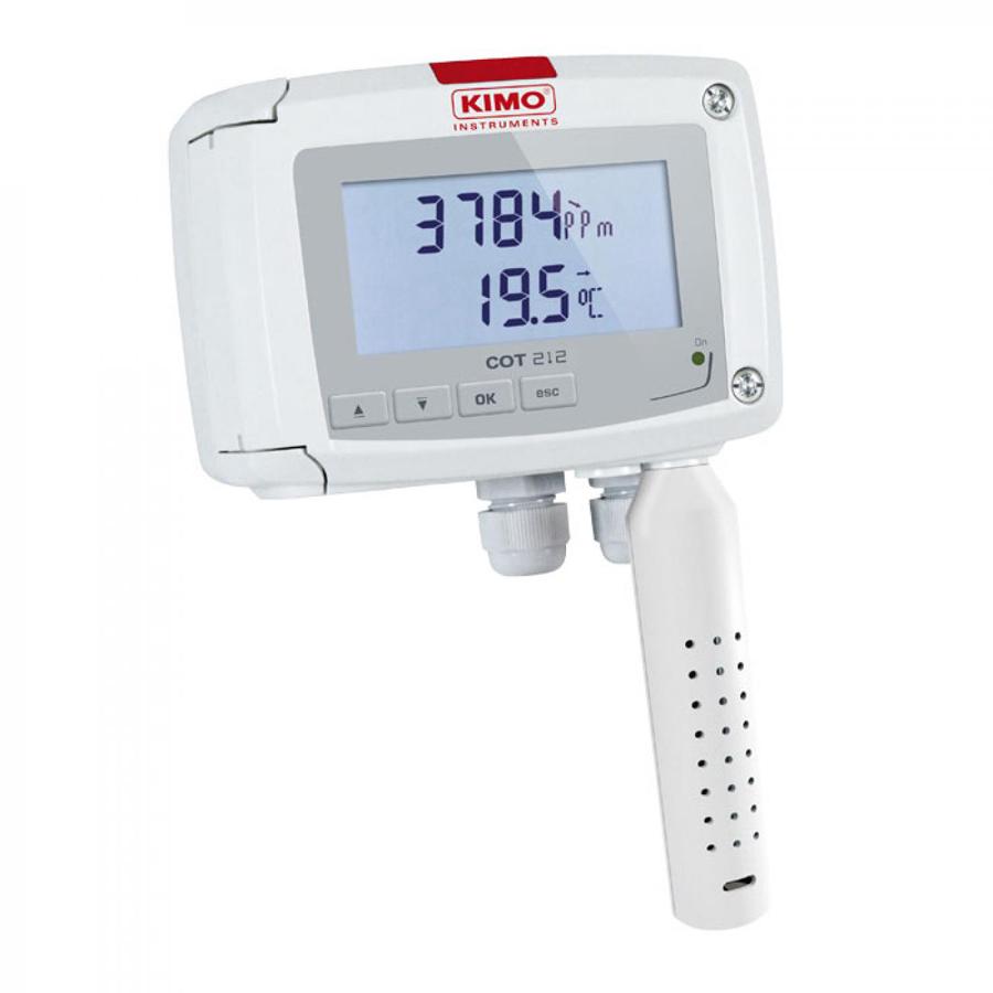 Temperatūros ir CO2 jutiklis / siųstuvas KIMO COT 212-R