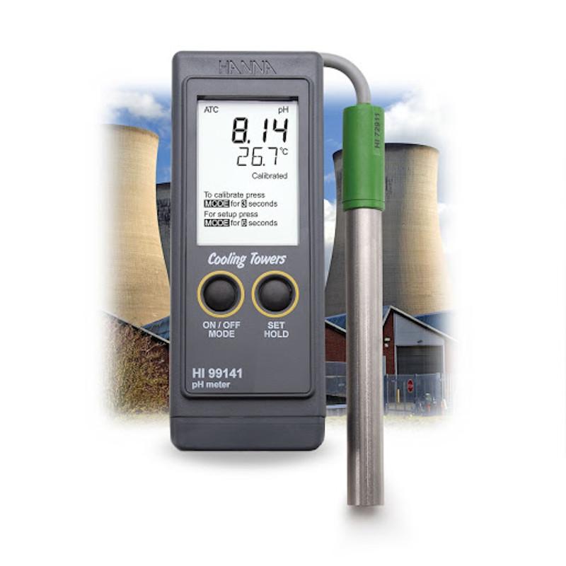 Katilų ir aušinimo bokštų pH matuoklis HI99141