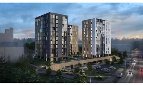 """Naujai statomame daugiabučių projekte """"Viršuliškių stogai""""  atliekami darbai"""