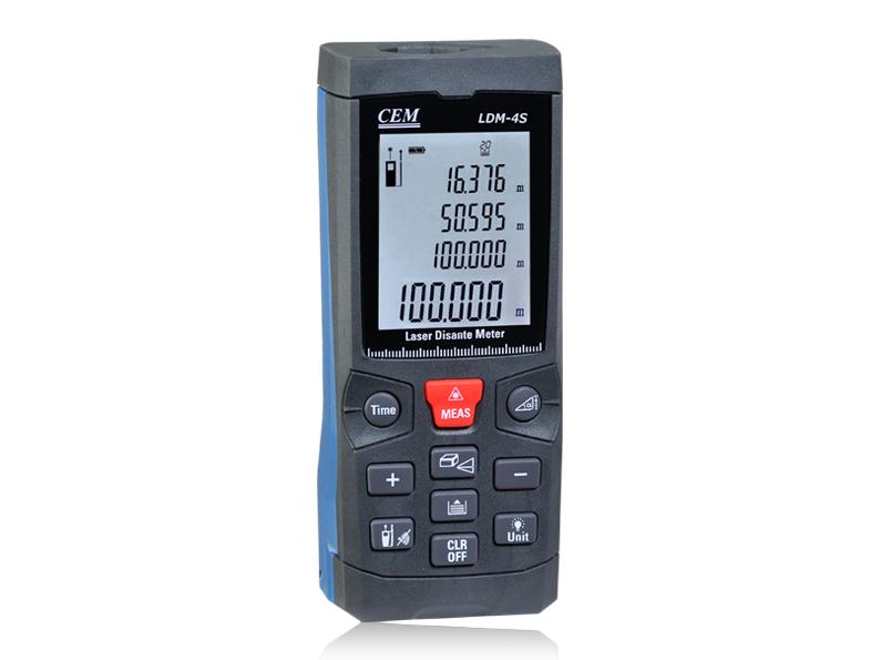 4 viename: atstumų matuoklis, varžtų, metalo ir kintamos srovės įtampos ieškiklis LDM-4S