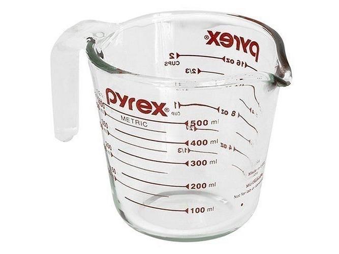 Stiklinis graduotas 500 ml matavimo indas