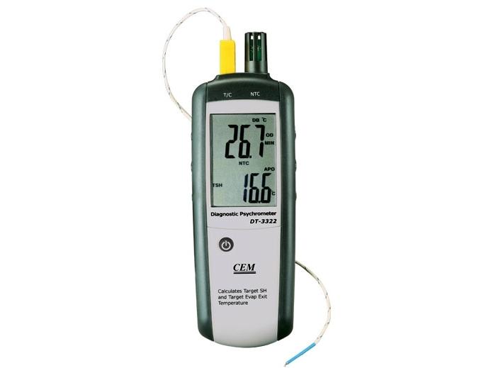 Drėgmės, temperatūros ir NTC matuoklis DT-3322