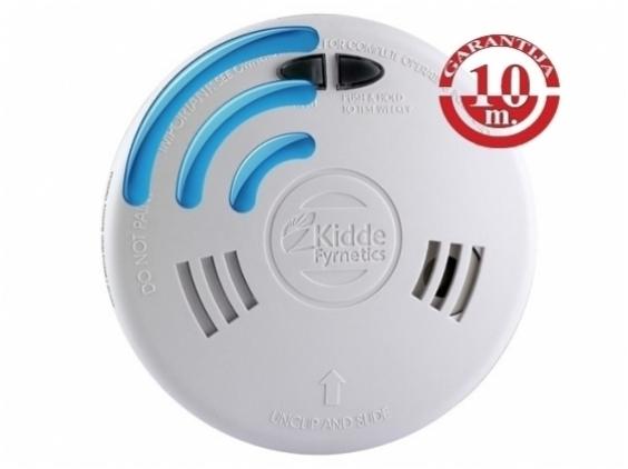 230V maitinamas, radijo ryšiu sujungiamas optinis dūmų detektorius Kidde Slick 2SFWR