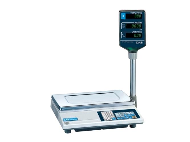 Prekybinės elektroninės svarstyklės CAS AP-M 30 kg. su metrologine patikra