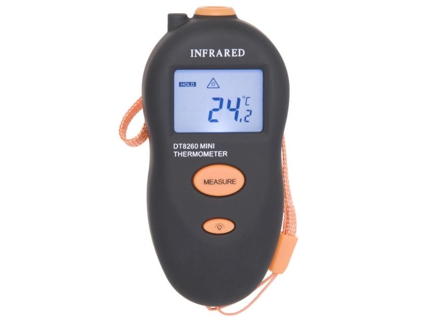 Infraraudonųjų spindulių termometras - pirometras DT8260