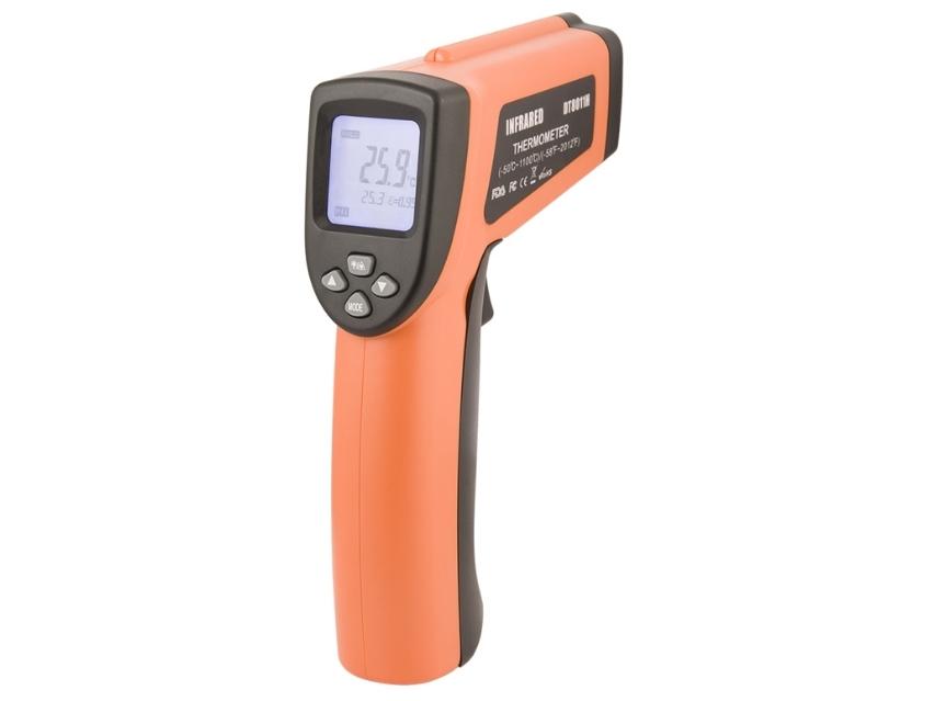 Infraraudonųjų spindulių termometras - pirometras DT8011H