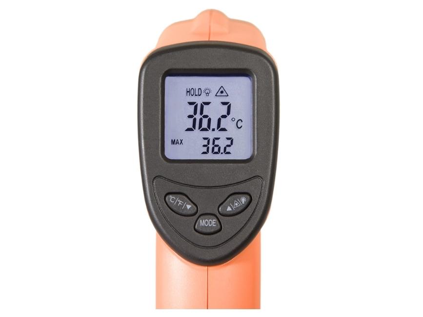 Infraraudonųjų spindulių termometras - pirometras DT8500H su metrologine patikra