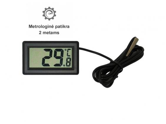 Elektroninis termometras su LCD ekranu DC-1 su metrologine patikra