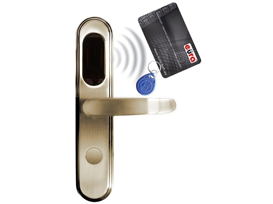 Elektromechaninė durų spyna su RF ID skaitytuvu ELH-20B9/brass (valdymo dalis)