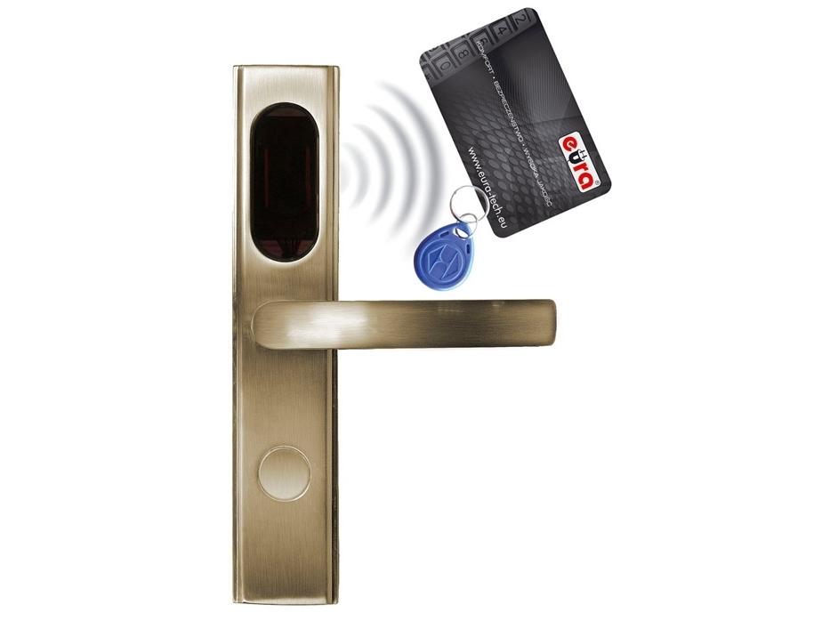 Elektromechaninė durų spyna su RF ID skaitytuvu ELH-10B9/brass (valdymo dalis)