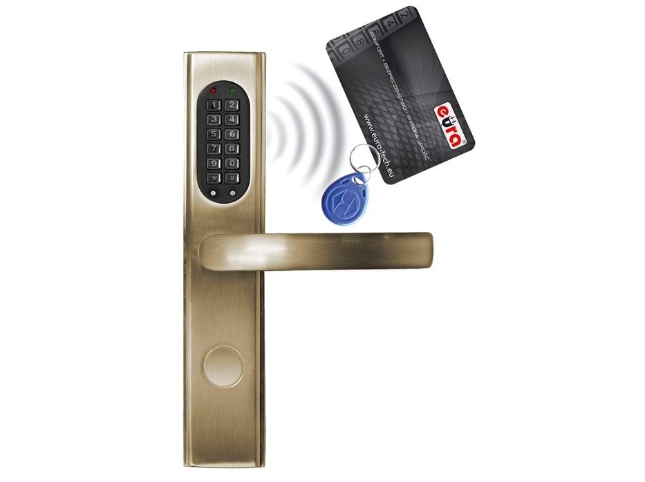 Elektromechaninė durų spyna su RF ID skaitytuvu ir kodo užraktu ELH-30B9/brass (valdymo dalis)
